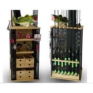 釣魚 釣具 釣竿 收納櫃 展示架 展示櫃 竿架 捲線器 DIY組裝 磯釣 船釣 路亞 岸拋 大