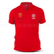 Polo T Shirt Sulam Yamaha Monster MotoGP Motorcycle Motosikal Y125Z LC135 Y15 RXZ TZM SRL Superbike Racing Team Casual