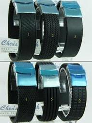【錶帶家】18mm20mm22mm24mm新款不銹鋼單折安全扣矽膠錶帶膠帶替代 Oris,Tissot,mido