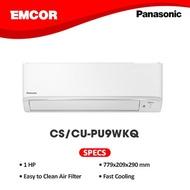 Panasonic 1HP Standard Inverter Split Type Aircon CS/CU-PU9WKQ