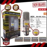 Lampu Depan LED Motor TYTO AYOTO M2A H6 AC DC Motor Bebek Matic Lampu Putih Kuning
