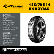 JK Tyre 185/70 R14 UX Royale Passenger Car Radial PCR Tires Made in India