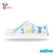 native水鞋 女鞋 奶油頭 洞洞鞋 休閒鞋 懶人鞋 JEFFERSON 萊姆汽水幾何 L9486#白藍 奧森