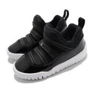 Nike 休閒鞋 Jordan 11 Retro 運動 童鞋 襪套 輕便 舒適 透氣 小童 穿搭 黑 白 BQ7102011 BQ7102-011