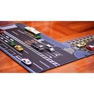 預購 1:64 小車專用日本馬路規格道路停車場滑鼠墊(自己設計,獨家發售)(600元)