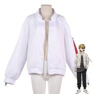 Takerlama Tokyo Revengers Cosplay Coat Valhalla Baruhara Team Uniform White Angel Kazutora Hanemiya Jacket  Anime Clothes Adults