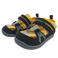 日本 MOONSTAR 兒茶素系列-透氣速乾款 涼鞋 透氣鞋(12.5~17cm)黑黃