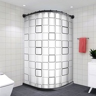 Shower Curtain Rod Perforated Extendable Rod Shower Curtain Set