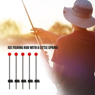 CN Pioneer 5Pcs Portable Winter Outdoor Fishing Red Ball Spring Marine Sea Ice Fishing Rod Tool Fishing Tackle Accessories Equipment