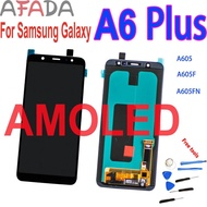 """6"""" Amoled Lcd For Samsung Galaxy A6 A6 Plus A605 Display A605f A605fn Lcd Touch Screen Digitizer Assembly Replacement 2220*1080 Electronics Accessories"""