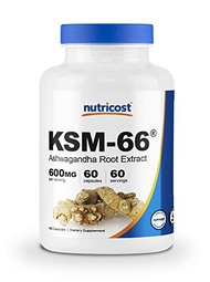 Nutricost KSM-66 Ashwagandha Root Extract 600mg, 60 Veggie