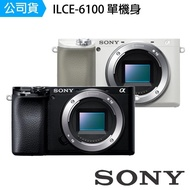 【SONY 索尼】ILCE-6100 A6100 單機身 單眼相機(公司貨)