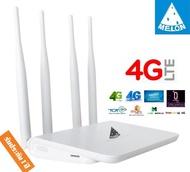3G Router - 4G Router แบบใส่ SIM  4 เสา รองรับ 4G ทุกเครือข่าย Ultra fast 4G Speed ใช้งาน Wifi ได้พร้อมกัน 32 users