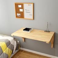 實木折疊桌小戶型餐桌創意電腦桌廚房收納桌兒童學習桌壁掛桌家用
