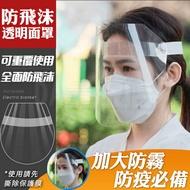 防疫面罩 防飛沫面罩 透明面罩 防護面罩 全透明面罩 遮罩 防油濺 防口水(V50-2608)