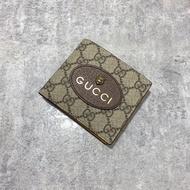 全新正品 Gucci 虎頭 老花 八卡 短夾