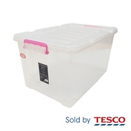 Tesco Storage Box with roller - Assorted Color Clip (75L)