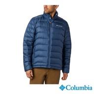 【Columbia 哥倫比亞】男款-Omni-HEAT鋁點保暖羽絨外套-墨藍(UWE15210IB / 防潑.保暖.透氣)