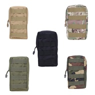 Outdoor Military Tactical Molle Pockets Bag Zipper Package Waist Pouch Outdoor Camping Backpack Atta