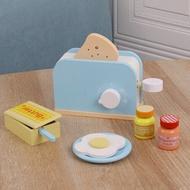 เด็กจำลองไม้เครื่องทำขนมปังกาแฟที่ทำแพนเค้กMakerผสมผสมครัวหญิงบ้านของเล่นของเล่นเพื่อการศึกษา