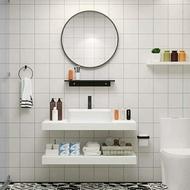 北歐實木浴室櫃組合衛生間小戶型洗漱台掛牆式智慧鏡櫃洗臉洗手盆  ATF 名購居家