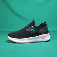 【iSport 愛運動】LOTTO 彈力潮流鞋 休閒鞋 LT9AWR0650 女鞋 黑粉 蜂巢透氣鞋墊