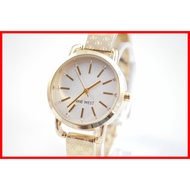 Nine West 100% ORIGINAL White Dial Gold Monogram Signature Bangle Watch