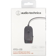 【audio-technica 鐵三角】USB音效卡音訊卡ATR2XUSB耳機連接器/麥克風轉接器(音效卡)