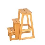 Boden-可羅實木三層收合樓梯椅-38x58x64cm