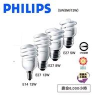 飛利浦/專業級 T2 省電燈泡 13W 螺旋燈泡 110V E14 白光 黃光//樂天雙11 永光照明PH-13W12014XV%