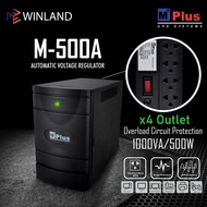 MPlus 4 Outlets Automatic Voltage Regulator AVR with Surge Protector 1000VA-500W xWINLANDx