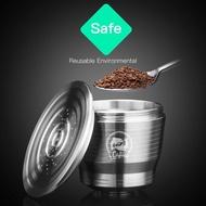 ตัวกรองกาแฟสแตนเลส,สำหรับเครื่องทำกาแฟเนสเพรสโซแผ่นกรองแคปซูลทำจากโลหะนำกลับมาใช้ใหม่ได้