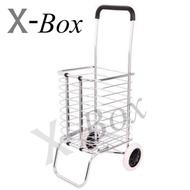 X-Box รถตะกร้าเข็นของพับเก็บได้ shopping cart with basket trolley cart folding