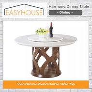 Harmony Dining Table | Dining | Solid Natural Round Marble Table Top