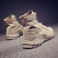 夯貨折扣! 馬丁靴男戶外工裝靴軍靴中筒男靴子馬靴冬季馬丁靴西部沙漠靴短靴高筒男鞋