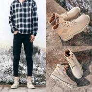 馬丁靴男中筒戶外沙漠靴英倫復古靴子男短靴工裝靴