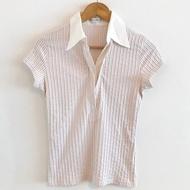 Nara Camicie 義大利專櫃 立體編織感短袖襯衫