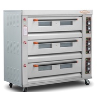 3 deck 6 trays commercial gas oven