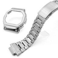 ผู้ชายสายนาฬิกาข้อมือสร้อยข้อมือนาฬิกา Casio DW5600 DW5610กรอบ GW-M5610 GWB5600BB DW5600E โลหะสแตนเลส