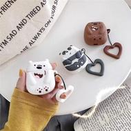 在台現貨**Airpods airpods2 矽膠 耳機保護套 熊熊遇見你