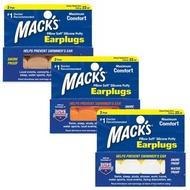 【Macks】美國熱銷 成人矽膠耳塞 2副裝 防噪音 飛行 游泳 適用