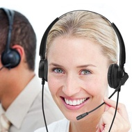 RJ9 Call Center Headset+Noise Cancelling Mic+Volume control