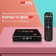 Ready Stock - FREE EVAI Voice Remote Control - Original EVPAD 5P Smart Android  TV BOX 2.4GHz & 5GHz Dual WIFI 4G 32G Bluetooth 4.2 AI intelligent Voice Control 6K UHD Media Player