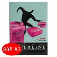 【PAPERLINE】120 / 80P / A3 淺藍 進口影印紙 (500張/包)
