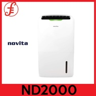 NOVITA ND2000 PuriDry™ 2-In-1 Dehumidifier ND2000 with HEPA Air Purification + FOC Filter Pack(2000 ND-2000)