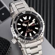 【CITIZEN 星辰】黑水鬼不鏽鋼自動上鍊機械腕錶(NY0090-86E)