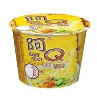 【阿Q桶麵】蒜香珍肉風味桶 12入(獨特蒜香口味搭配Q彈非油炸麵條)