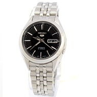 Seiko Mens 5 Automatic Business Analog Black Dial Silver Band Stainless-Steel Bracelet Stainless-Steel Case Automatic 30 Meter 3 Bar Water Resistance SNKL23K1