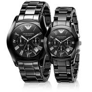 嫣兒-【海外直郵】ARMANI手錶 AR1400男款/AR1401女款 阿瑪尼手錶  石英計時表 情