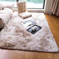 現代長毛染色可水洗地毯地墊80*120cm染駝色